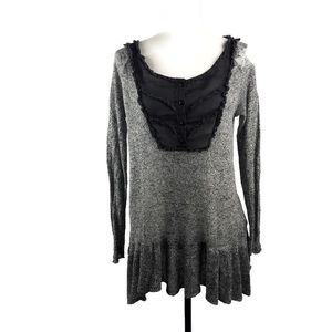 Free People Tunic Sweater Dress With Scalloped Hem